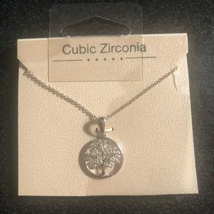 New tree of life cubic zirconia necklace
